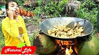 Awesome Dessert Sweet Potato With Coconut | Sweet Potato Cooking With Palm Sugar | Natural Life