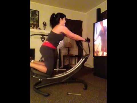 Ab glider workout.