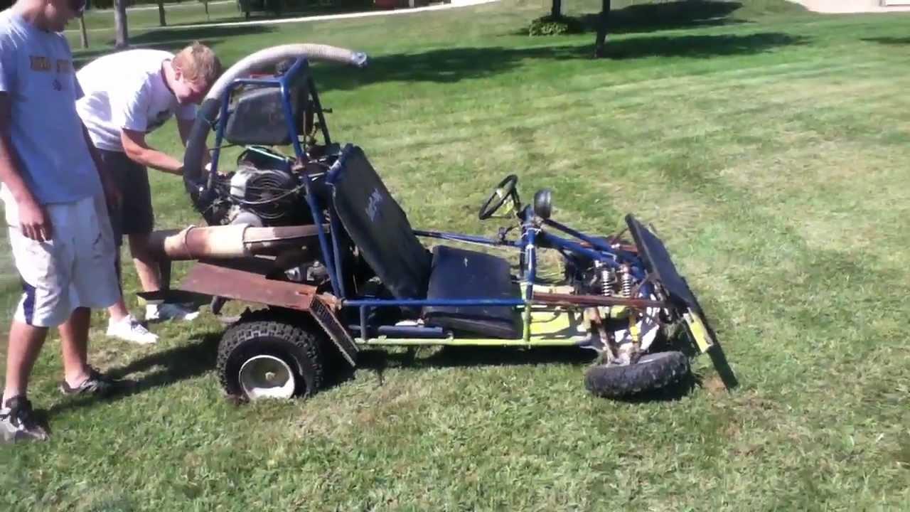 Custom Go Kart Crash and Flip! - YouTube