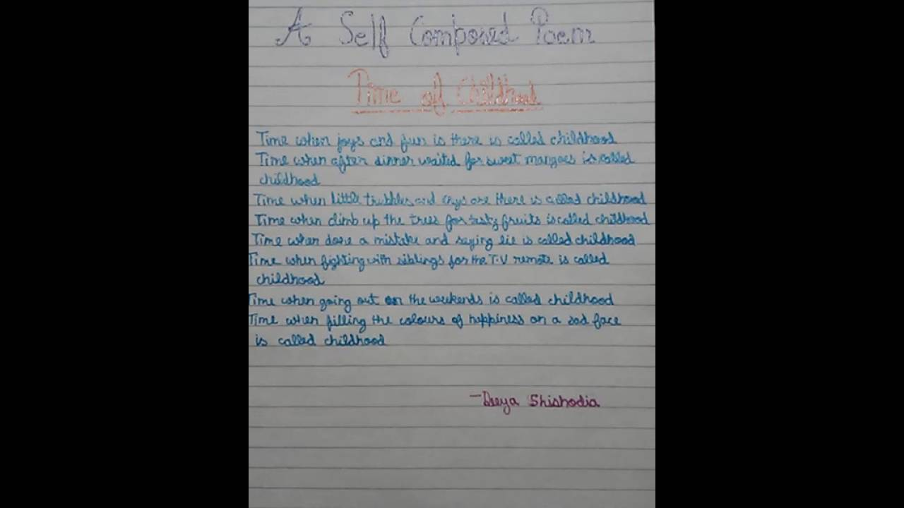 Poem on childhood - YouTube