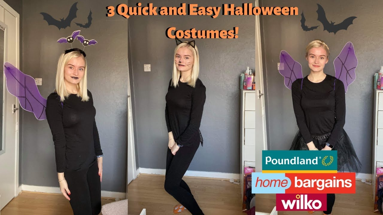 3 Quick And Easy Halloween Costumes 2019 Poundland Home Bargains Wilko Items