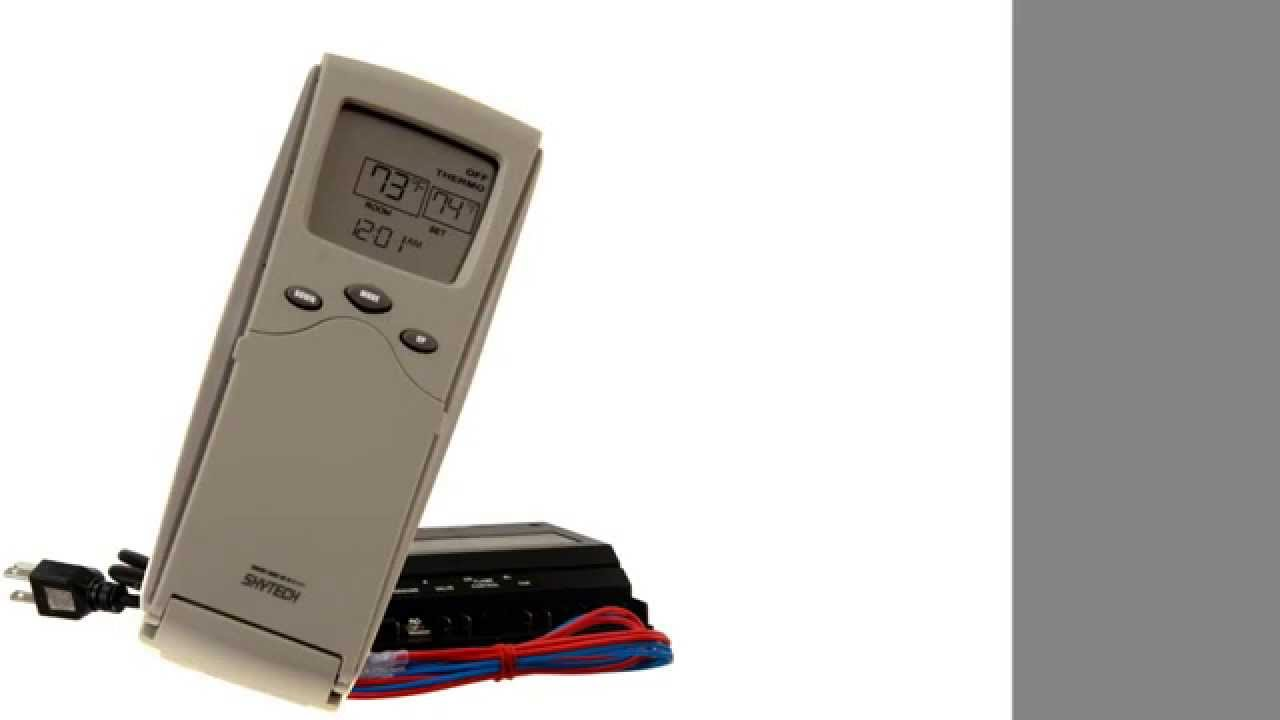 skytech sky 3301pf fireplace remote control with timer thermostat