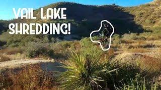 HITTING BIG MTB JUMPS! | Mountain biking Viagra Falls and Matco Trail at Vail Lake