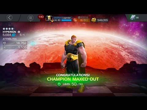 4 STAR HYPERION REVIEW AND RANK UP TO 5/50 - Marvel Contest of Champions