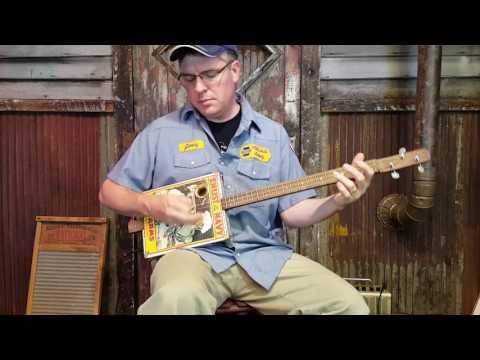 """The Bluejacket"" Cigar Box Guitar Demo"