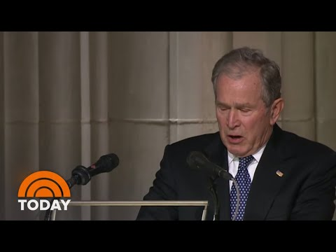 George W. Bush Delivers Emotional Eulogy For Dad George H.W. Bush | TODAY