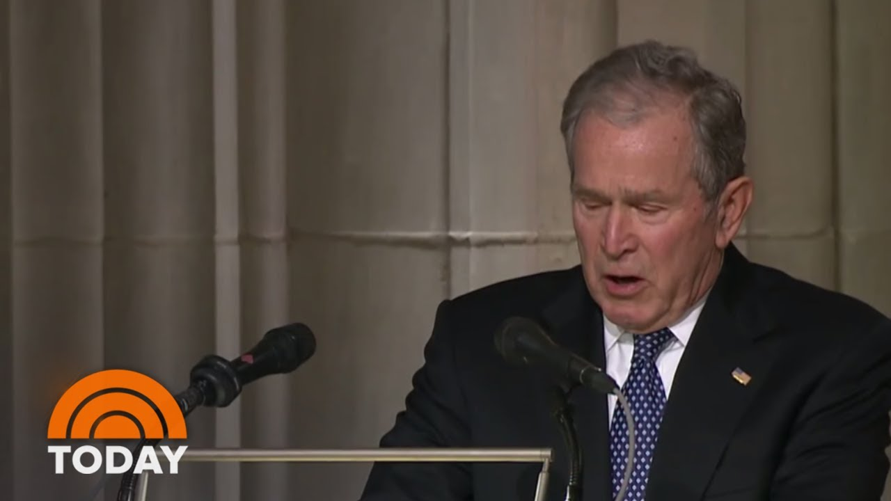 George W. Bush Delivers Emotional Eulogy For Dad George H.W. Bush   TODAY