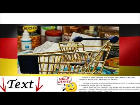 At shopping = Einkaufen - German Audio Video Conversation & Tests Free Online