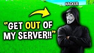 HACKER Sneaks onto NOOBS Server!? (Noob vs Pro) Fortnite #2