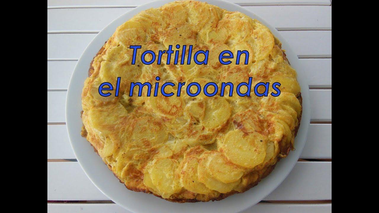 Tortilla en el microondas con grill sin usar sart n para - Tortilla en el microondas ...