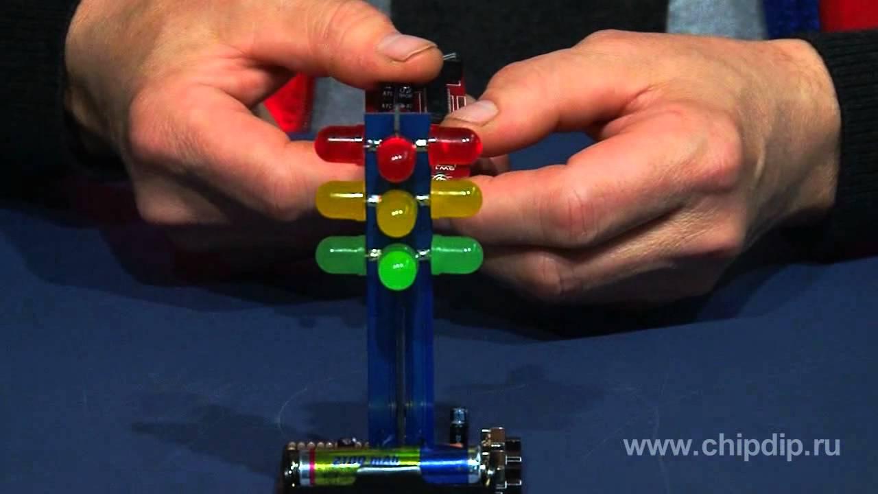 Детский светофор своими схема руками