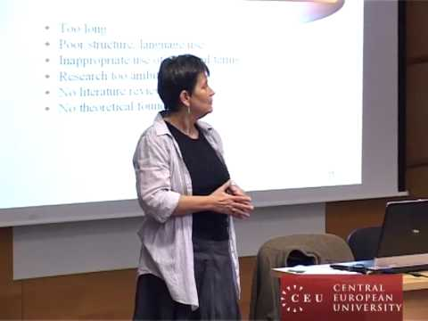 Writing a compelling research proposal - CEUs Eszter Timar tells you how