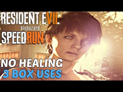 Resident Evil 7 - Speedrun Walkthrough (No Healing, 3 Box Uses) Resource Manager & Walk It Off GUIDE