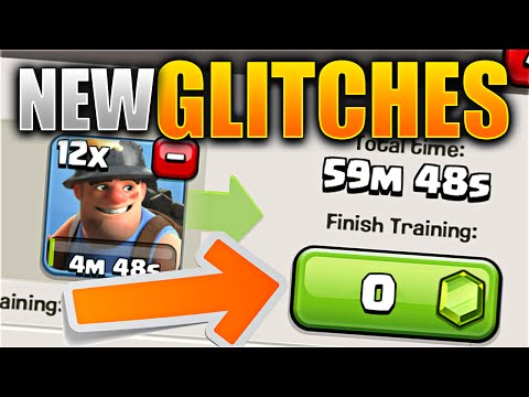 MAKE TROOPS FOR FREE!? – Clash of Clans NEW UPDATE GLITCHES! All Bugs / Glitches in NEW CoC Update!