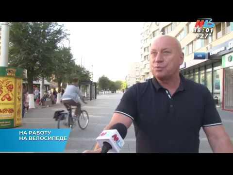 Глава администрации Волгограда Виталий Лихачев приехал на работу на велосипеде