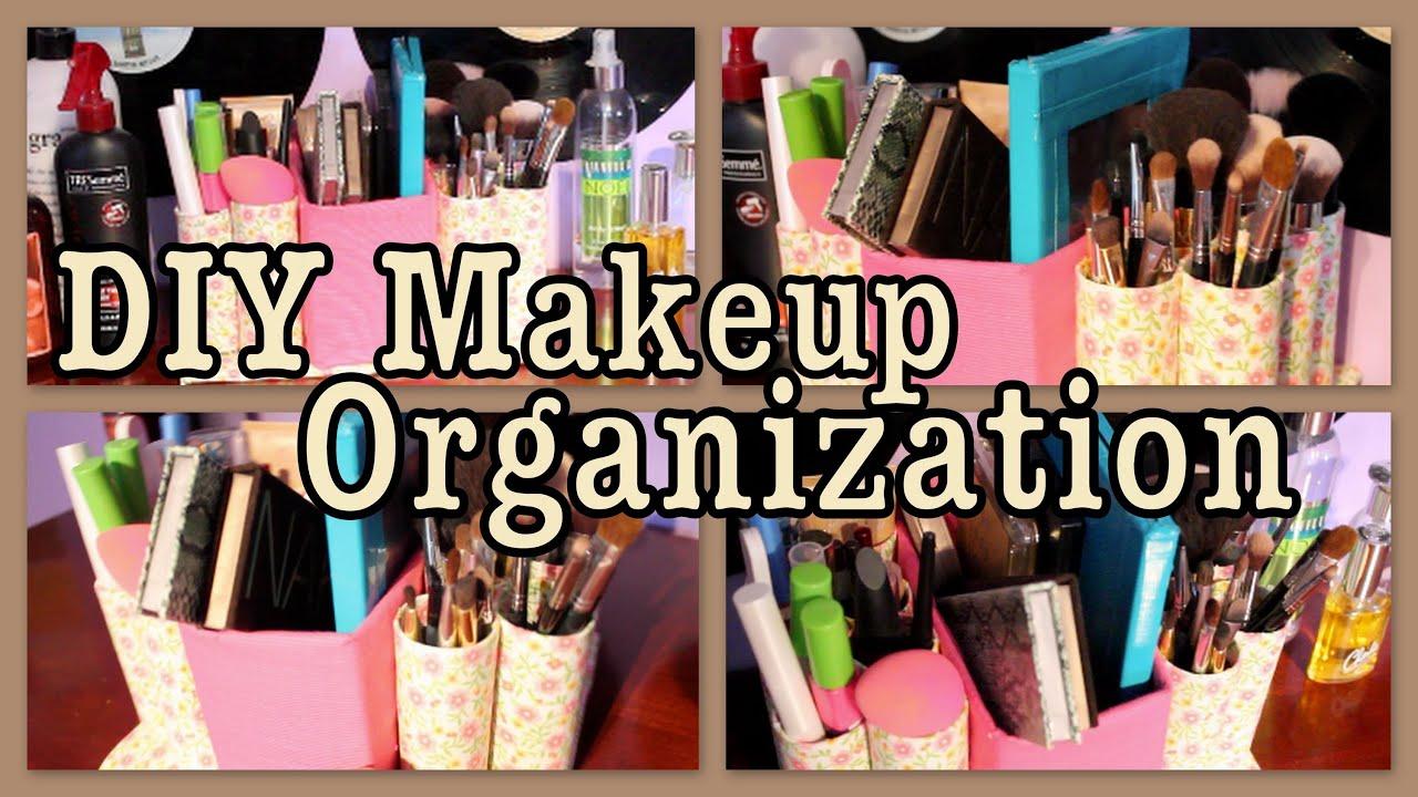 Diy Makeup Organization Caddy Youtube