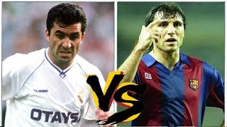 Gheorge HAGI VS Hristo STOICHKOV (1991) - Real Madrid x Barcelona // Two GREATS