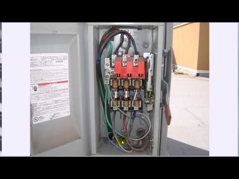 3 phase disconnect youtube Single Phase Generator Wiring Diagram