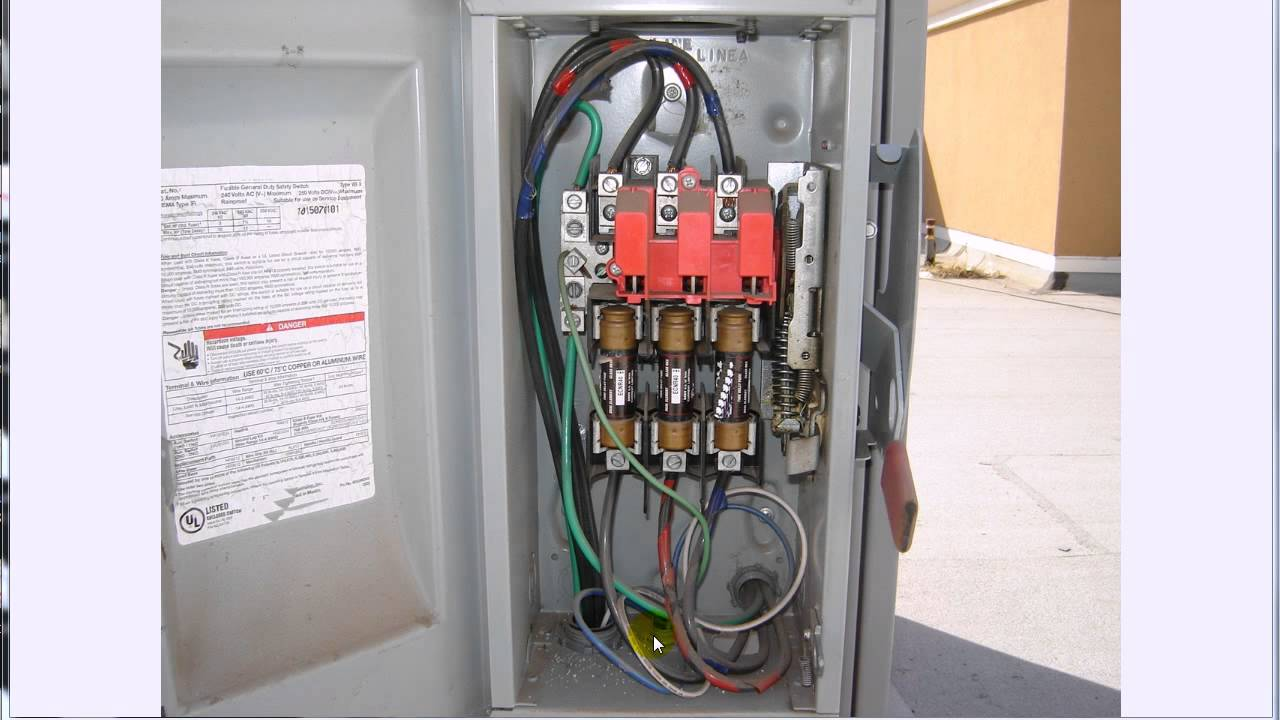 ac disconnect switch non fused wiring diagram wiring diagram Pressure Switch Wiring Diagram 3 phase disconnect youtube ac disconnect switch non fused wiring diagram
