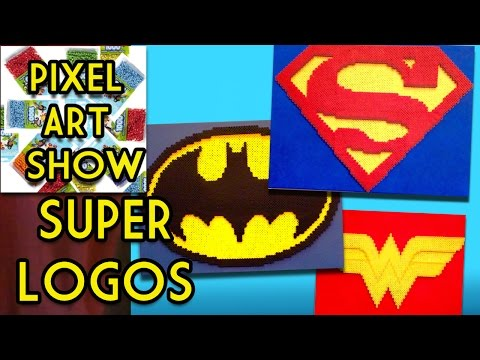 Perler Bead Tutorial How To Make 3d Superman Batman Wonder Woman Logos Pixel Art Show