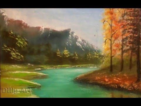 How To Paint A Beautiful Mountain Oil painting | Landscape Oil paint tutorial