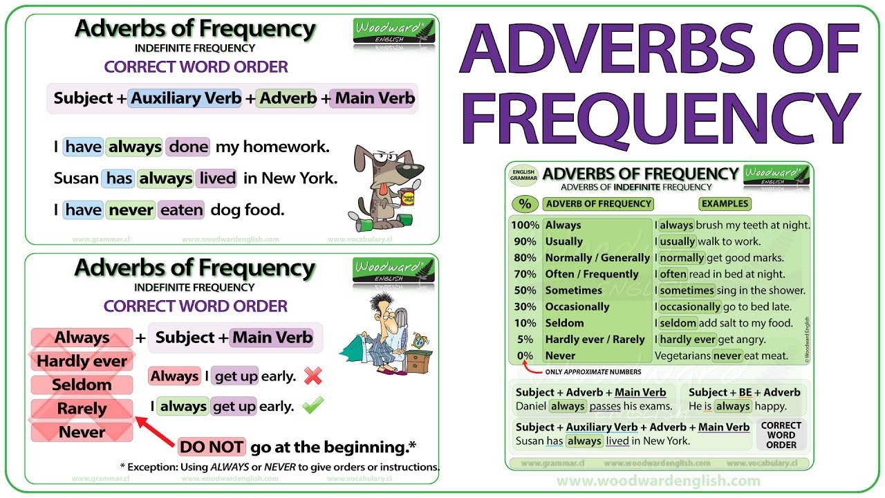 Adverbs Of Frequency In English Grammar Lesson Youtube