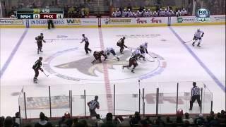 Keith Yandle goal 28 Jan 2013 Nashville Predators vs Phoenix Coyotes NHL Hockey