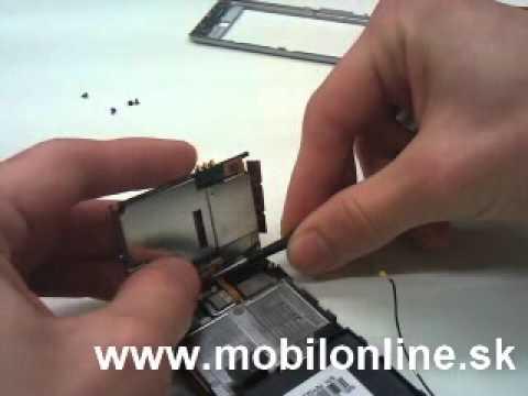 Výmena: LCD displej, dotykove sklo Samsung i900 Omnia disassembly