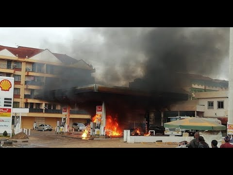 SHELL PETROL STATION KASARANI GOES UP IN FLAMES.