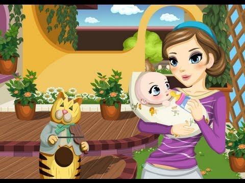 recin nacido juegos de cuidar bebes titteres