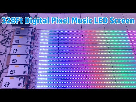 How To Connect 328Ft DC12V WS2811 Flex LED Strip Light Music Screen LED Digital Pixels Display