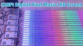 How To Connect 328Ft DC12V WS2811 Flex LED Strip Light Music Screen LED Digital Pixels Display