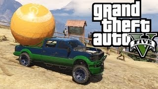★ GTA 5 - Hauling the Giant Orange Ball! Offroad 4x4! - GTA V Online Funny Moments!