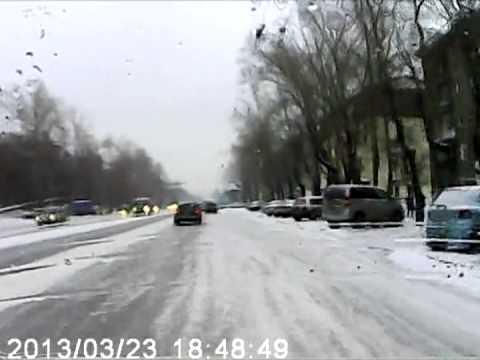 ДТП 23 03 13 Новосибирск, пр Дзержинского