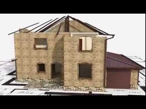 3d Computer Animation Of House Build Construction From Design To Completion