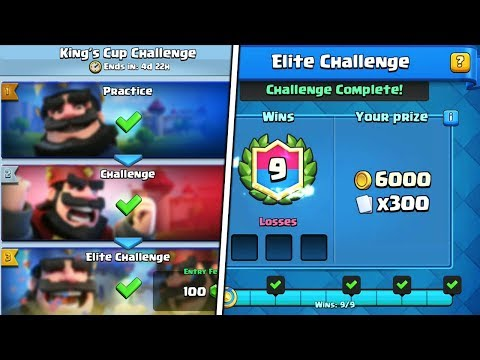 """HOW TO WIN """" KINGS CUP CHALLENGE """" IN CLASH ROYALE    FREE LEGENDARY CHEST IN CLASH ROYALE!!"""
