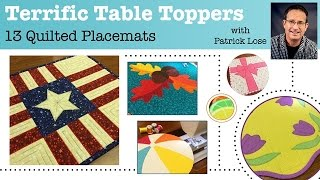 Quilted Placemats Online Course With Patrick Lose!