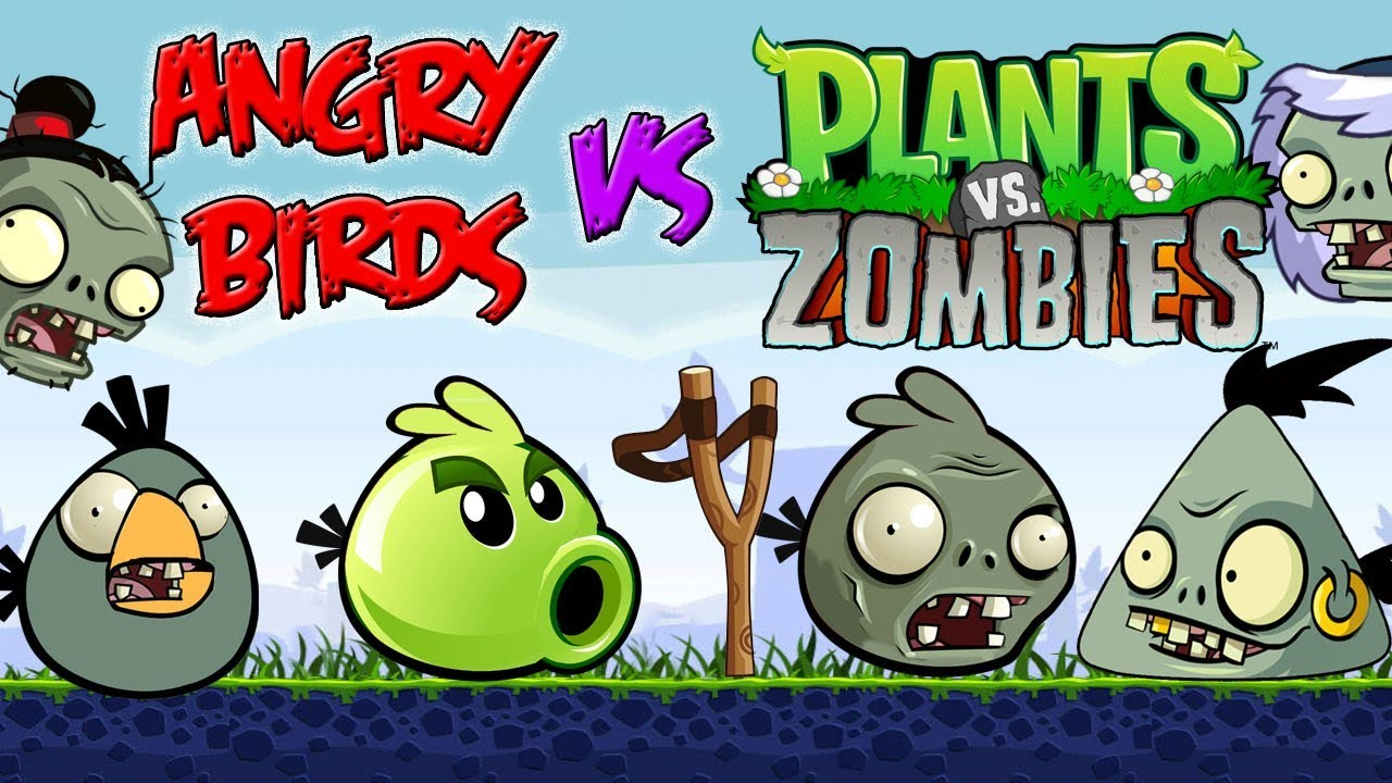 Angry Birds Vs Plants Vs Zombies Part 4 Youtube