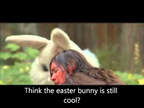 Badass Easter Bunny with chainsaw