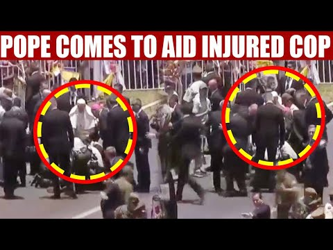 Pope Francis comes to aid of policeman after he falls from horse, Watch | Oneindia News