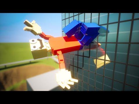Lego Ragdolls Falls #5 | Brick Rigs |