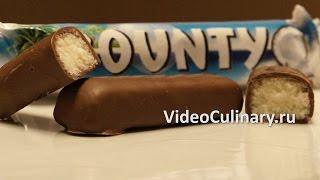 Рецепт - Шоколадный батончик Баунти от http://www.videoculinary.ru/