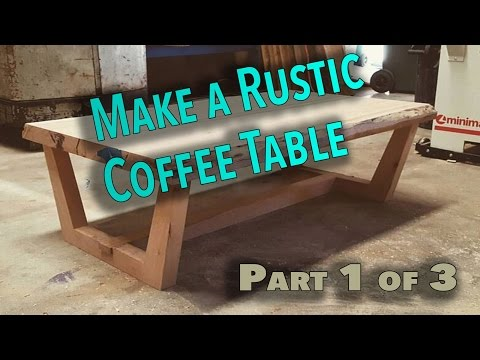 How to make a rustic live edge coffee table Part 1 - The top  (Awesome Coffee Table)