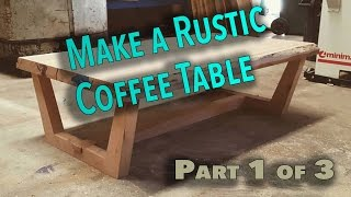 In this video series we are building a rustic live edge coffee table out of blackbutt using simple techniques. In part one of this coffee
