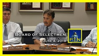 Pembroke Board of Selectmen 6/26/18 Self-insurance, fireworks, trash pickup