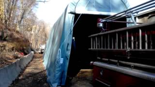 14x36x15 Portable Rv Shelter Installation In Derby, Ct.