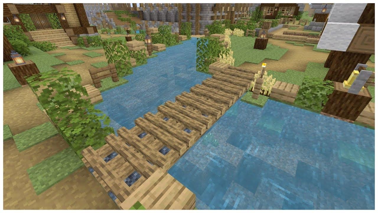 Comment Fabriquer Un Petit Pont En Bois comment faire un pont en bois avec le feu de camp ! minecraft