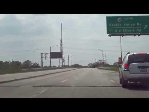 [IL] US 41 NB (Skokie Highway) and Deerfield Road from Highland Park to Deerfield (May 2012)