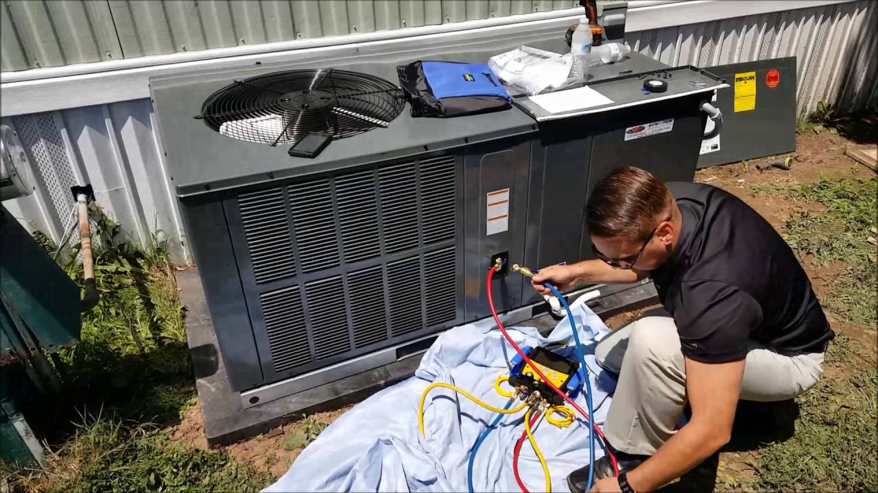Package Ac Unit Install Youtube