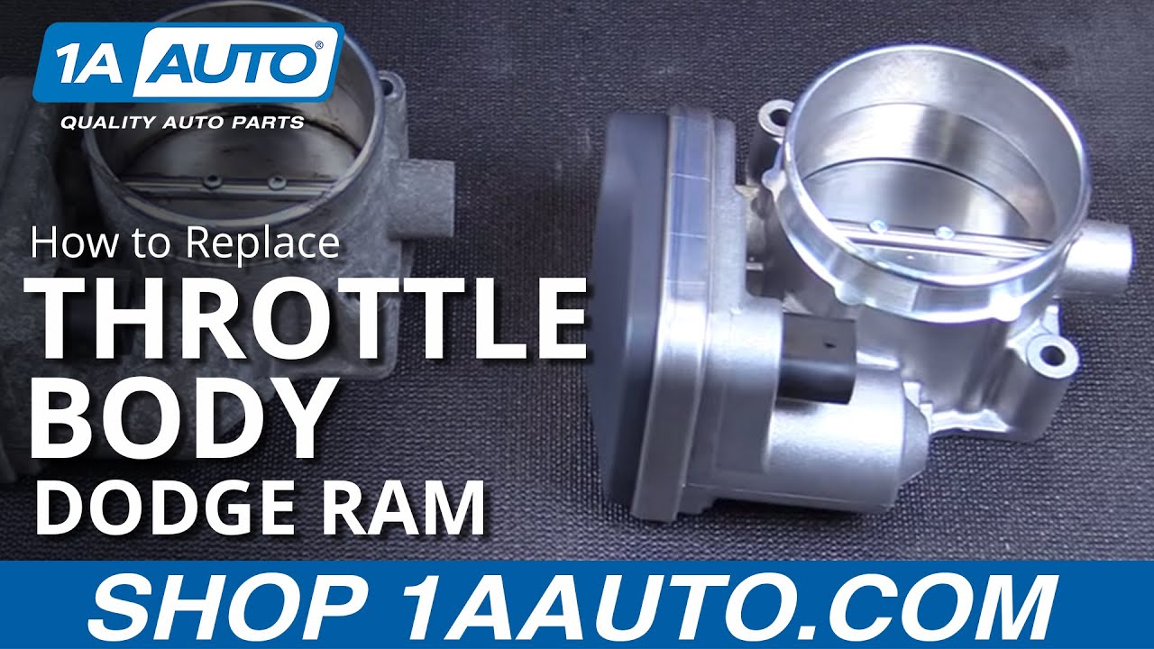 how to install replace throttle body assembly 2005 10 dodge ram 5 7l buy quality parts at 1aauto com [ 1280 x 720 Pixel ]